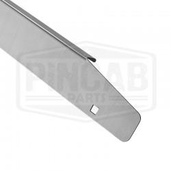 Side rail acier brossé