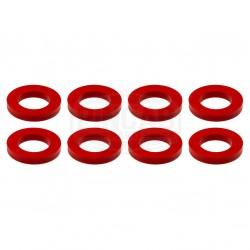 8 Rondelles rouges de...