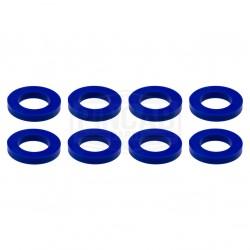 8 Rondelles bleues de...