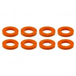 8 Rondelles oranges de...