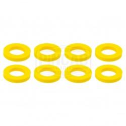 8 Rondelles jaunes fluos de...