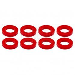 8 Rondelles rouges fluos de...